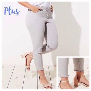 LOFT Plus Frayed Skinny Crop Jeans Color